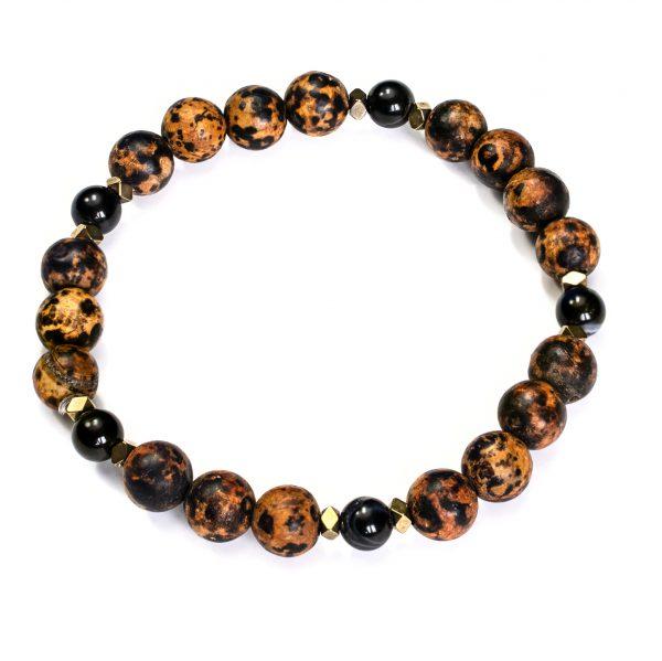 Biżuteria męska ręcznie robiona z kamieniami naturalnymi